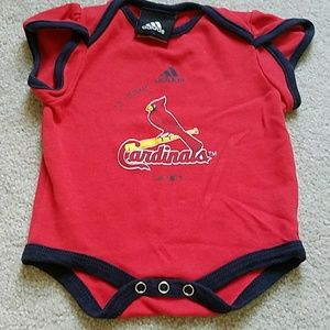 adidas One Pieces - Adidas 0/3 mo. St. Louis Cardinals onesie